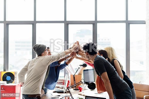 istock Teamwork Power Successful Meeting Workplace Concept 640295246