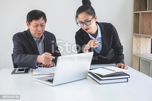 975599364istockphoto Teamwork process, Business partners meeting and discussing for new project investments and sale performance, financial and business strategy concept 932549136