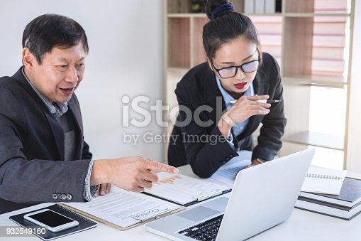 975599364istockphoto Teamwork process, Business partners meeting and discussing for new project investments and sale performance, financial and business strategy concept 932549160