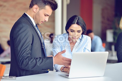519520560istockphoto Teamwork process concept.Young coworkers work with new startup project in office.Analyze document, plans. 865962730