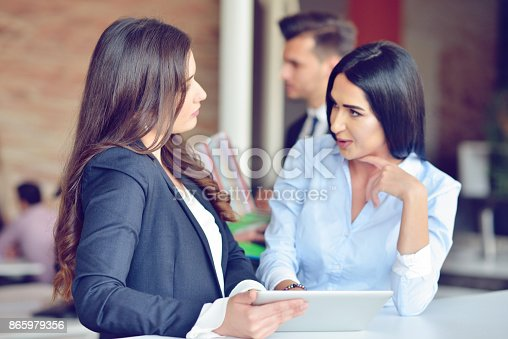 istock Teamwork process concept.Young coworkers work with new startup project in office.Analyze document, plans. 865979356