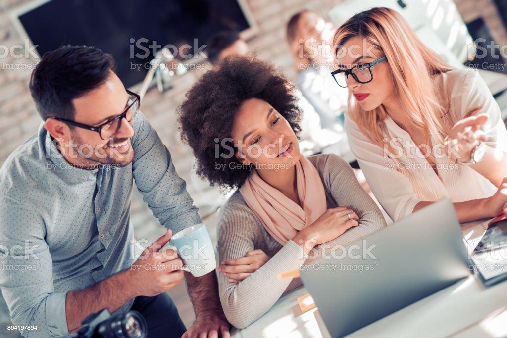 Teamwork process royalty-free stock photo