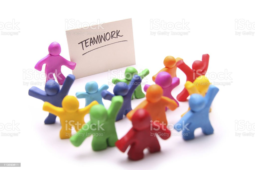 Teamwork puppets royalty-free stock photo