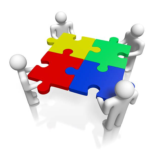 Royalty Free People Three Dimensional Shape Discussion Jigsaw Puzzle
