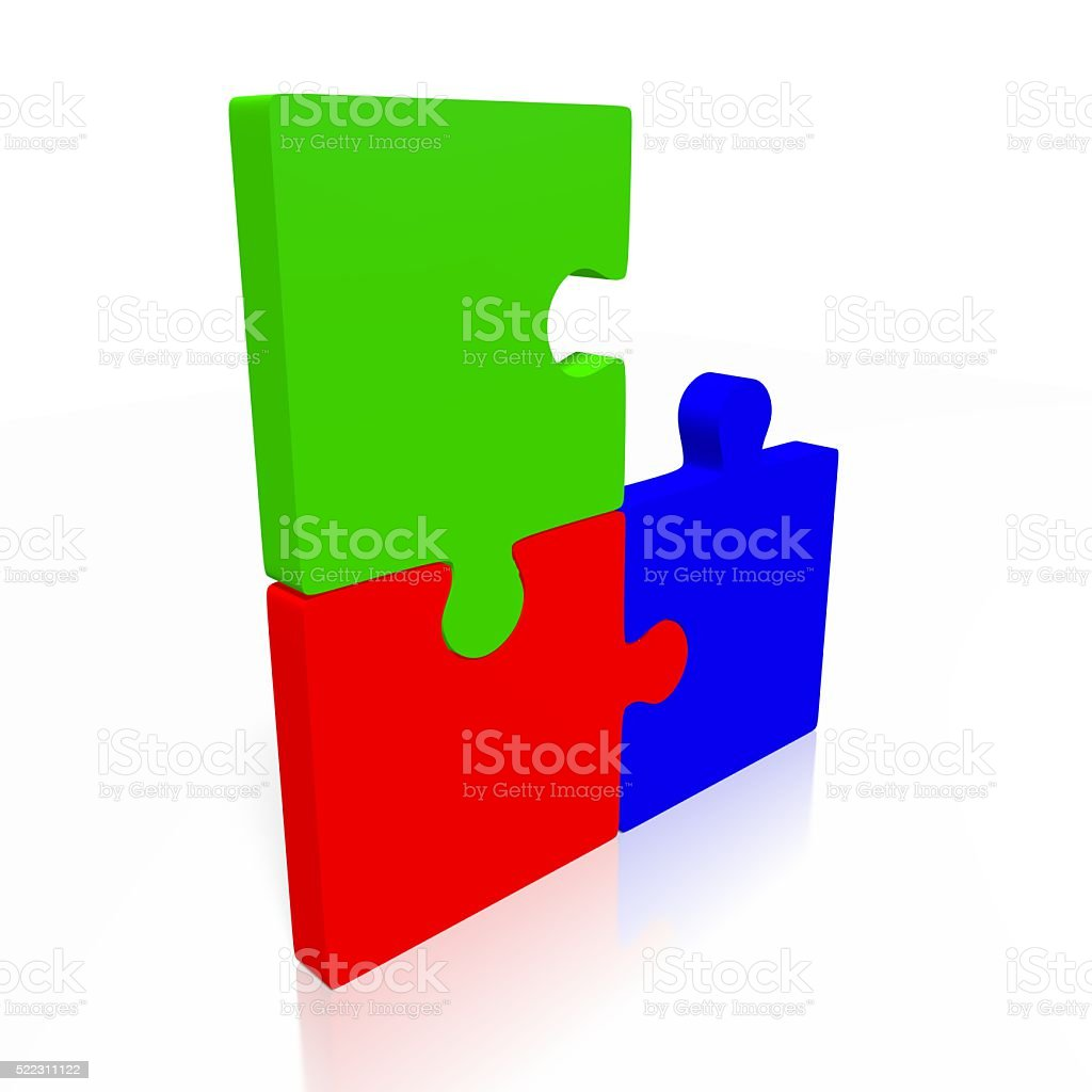Teamwork/ puzzle concept stock photo