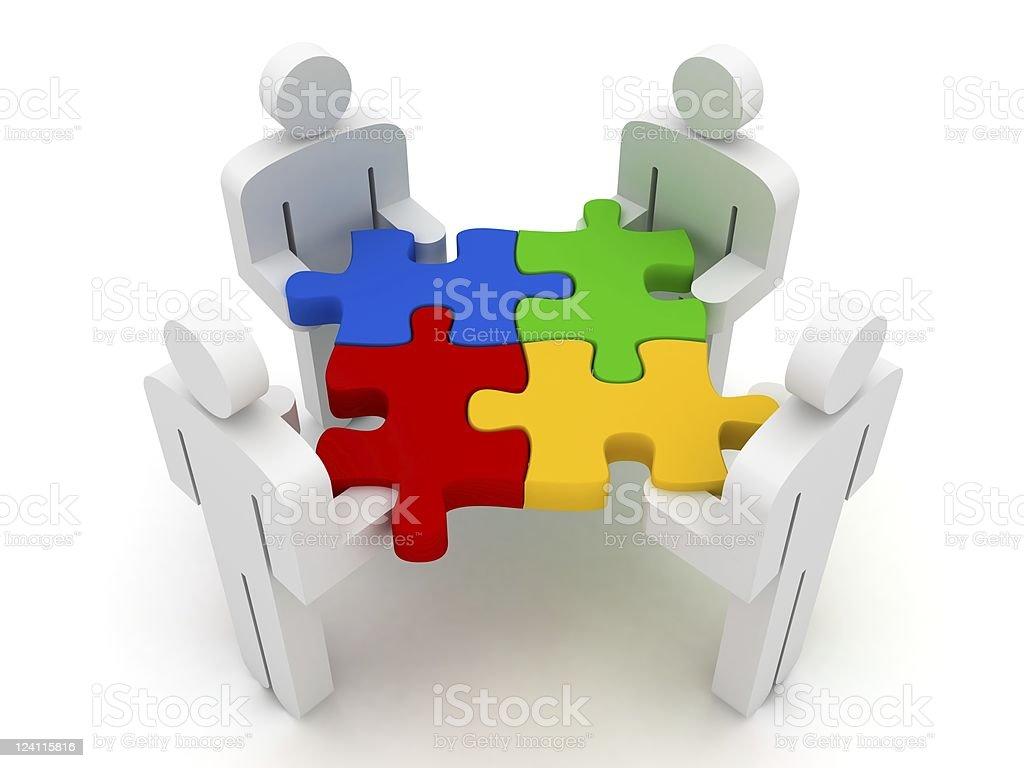 Teamwork Puzzle royalty-free stock photo