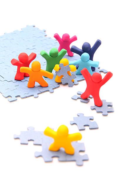 Teamarbeit puzzle – Foto