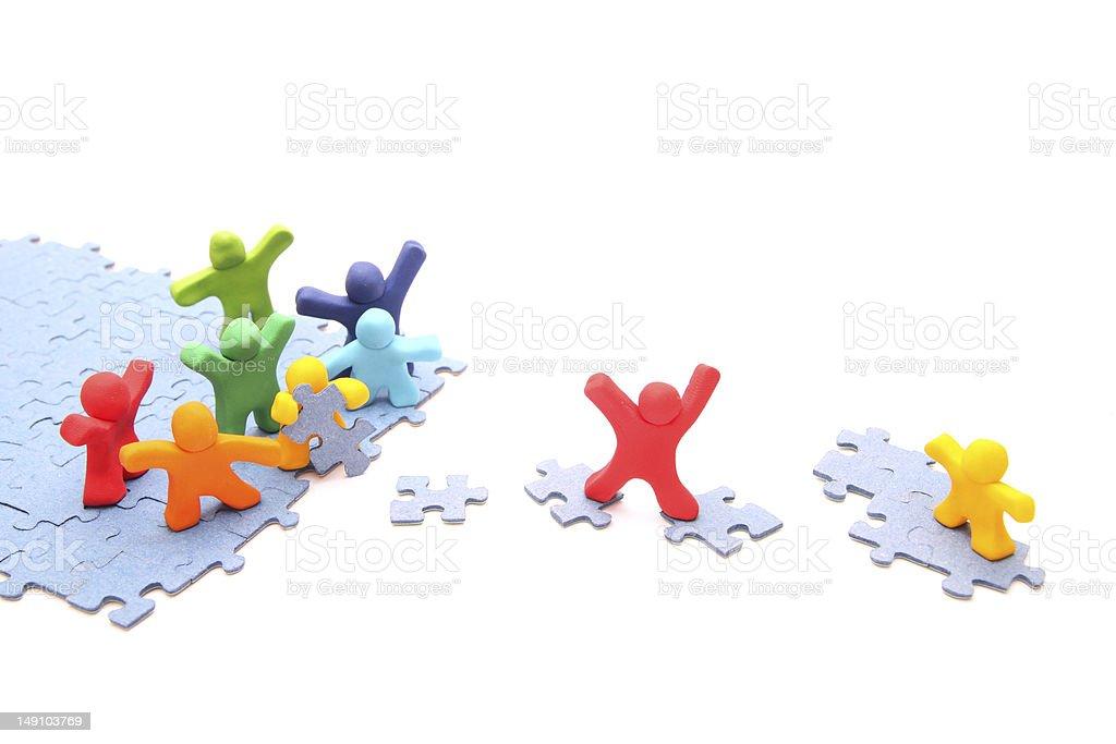 Teamwork puzzle stock photo