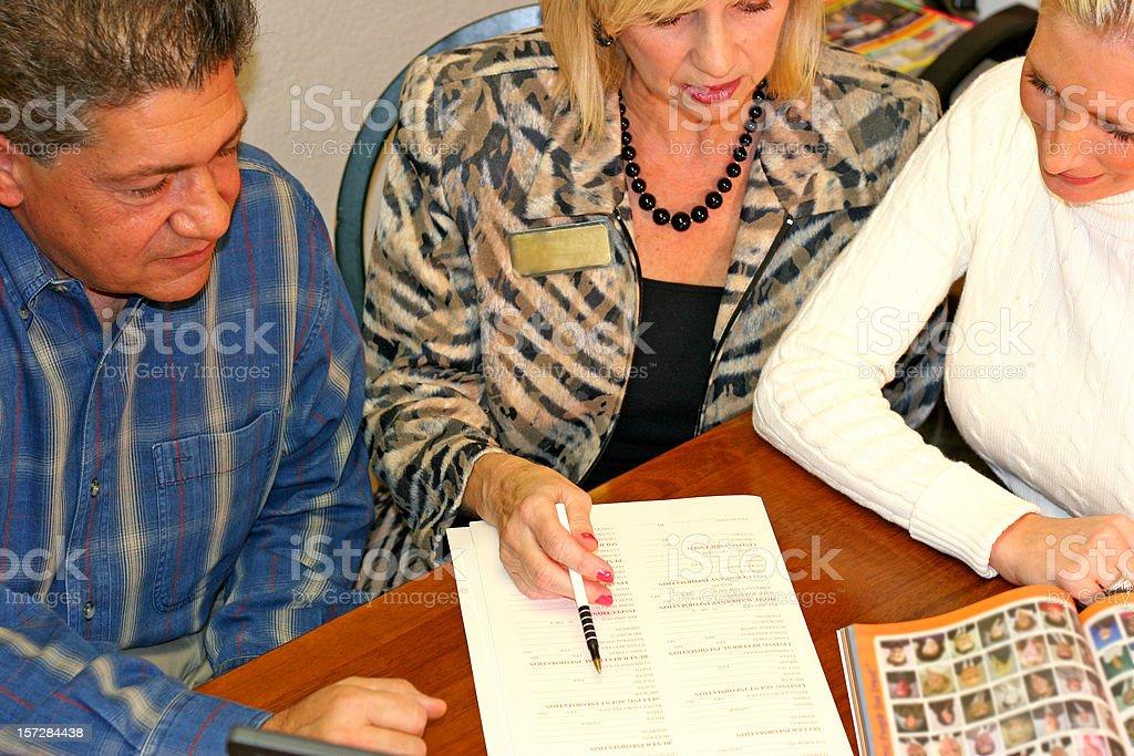 Teamwork - Realtors royalty-free stock photo