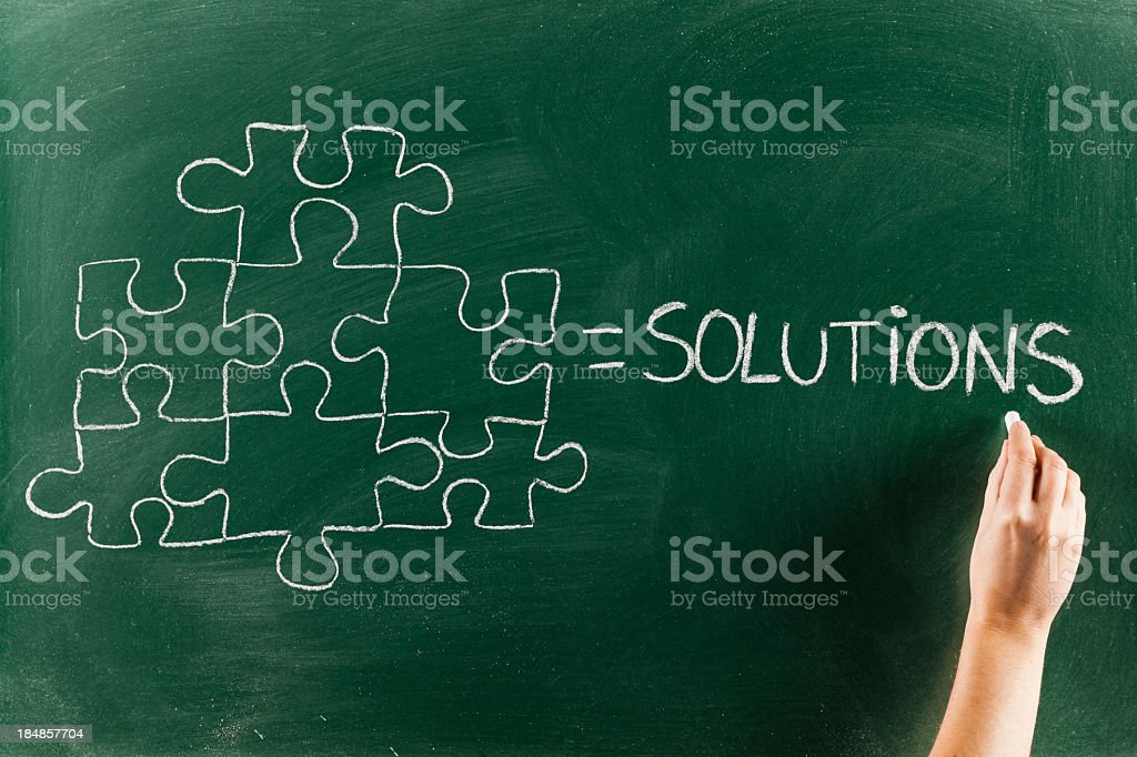 Teamwork solutions royalty-free stock photo