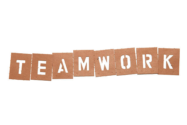 teamwork stencil word - people stencils silhouette stock photos and pictures