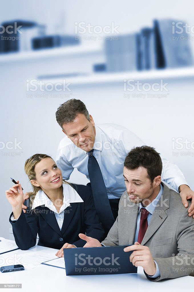 Teamwork supervising and cooperation royalty-free stock photo