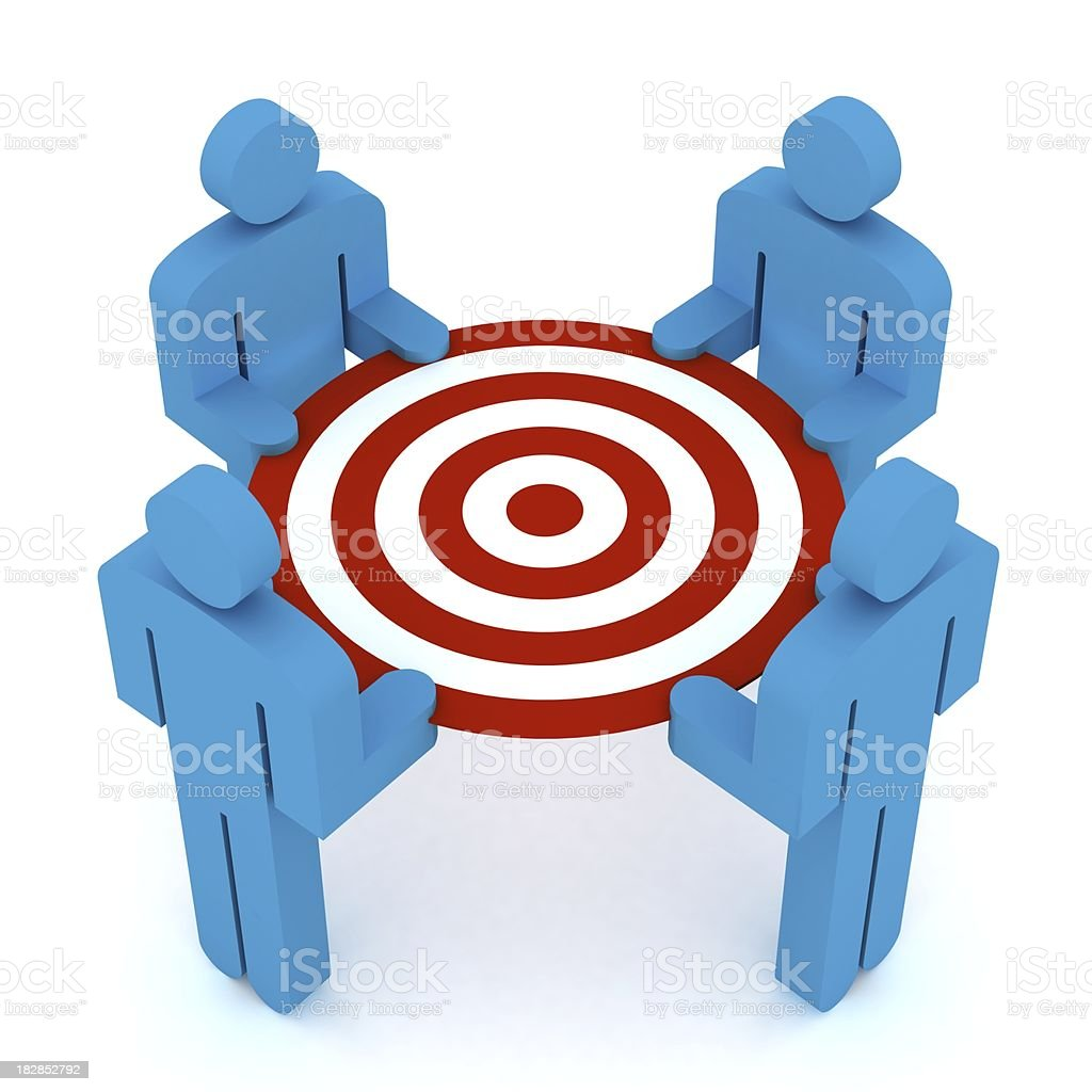 Teamwork Target stock photo