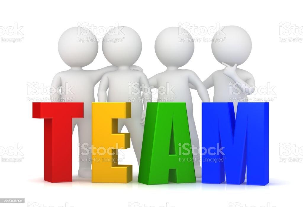 d91092de66b1e5 Teamarbeit-Team Arbeit Teamgeist Teambuilding Team Entwicklung rot gelb  grün blau lustige Text 3d Textvorlage