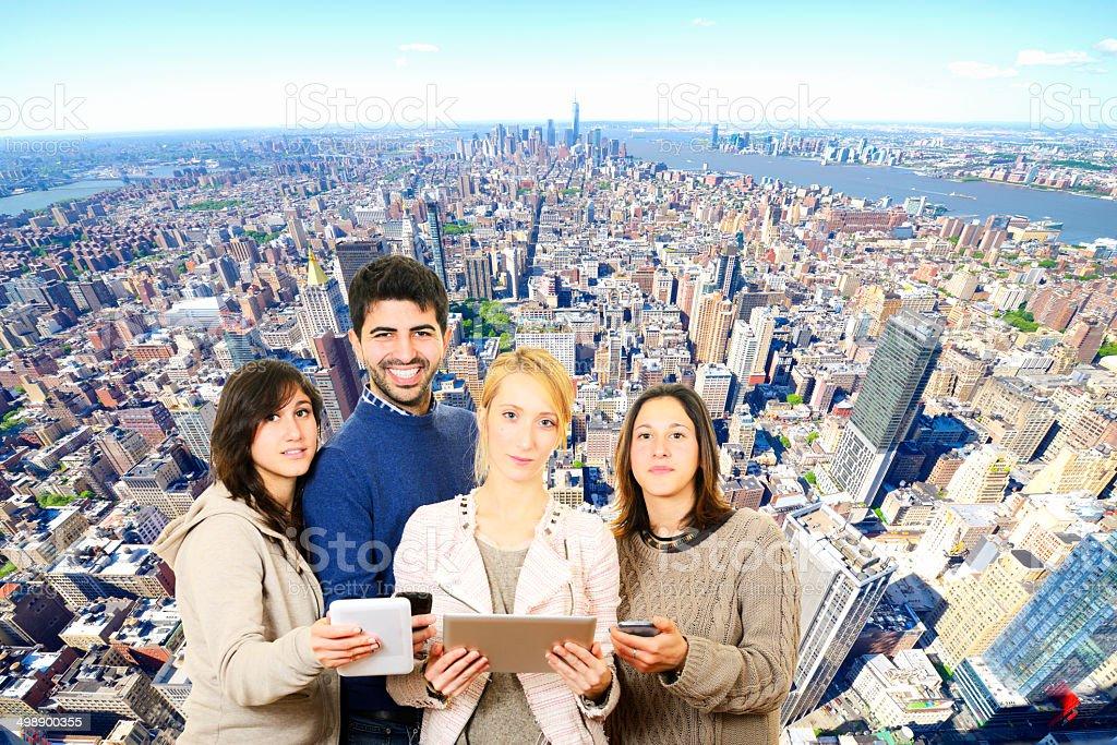 Teamwork Technology Communication stock photo