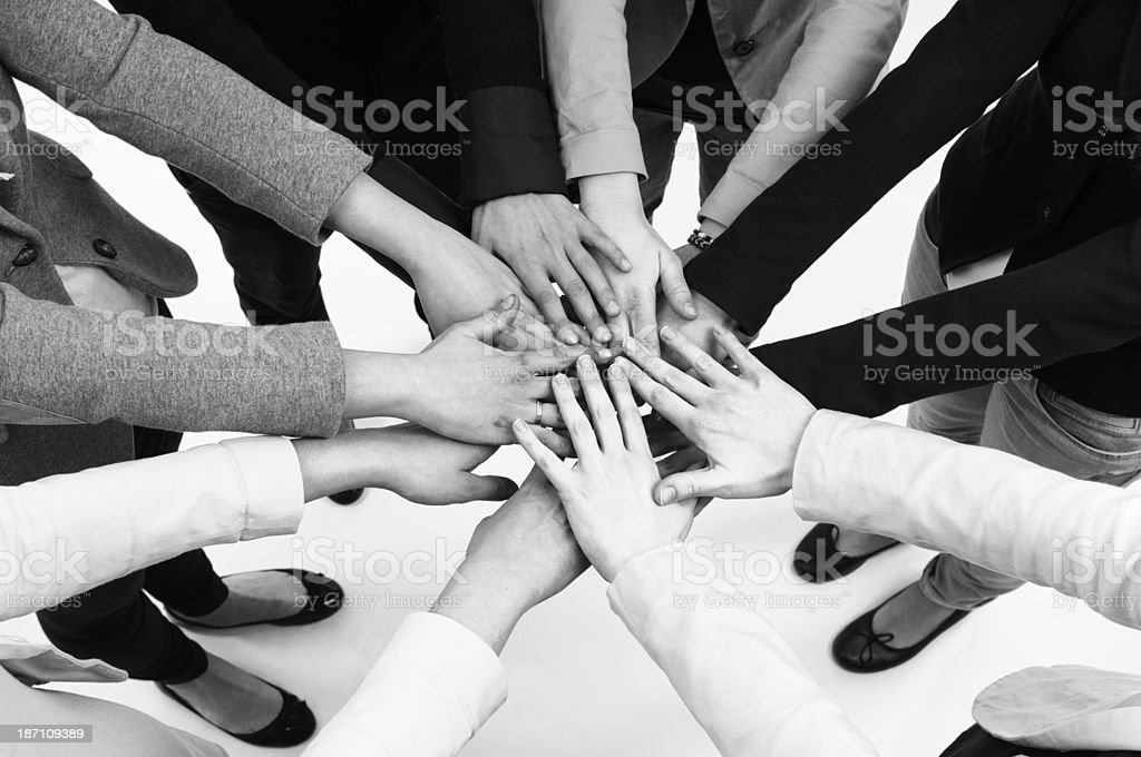 Teamwork Unity royalty-free stock photo