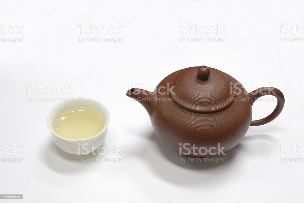 teapot and cup royalty-free stock photo