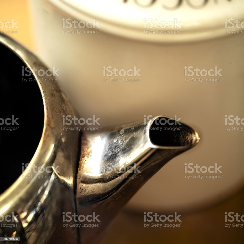Teapot And Sugar-Bowl stock photo