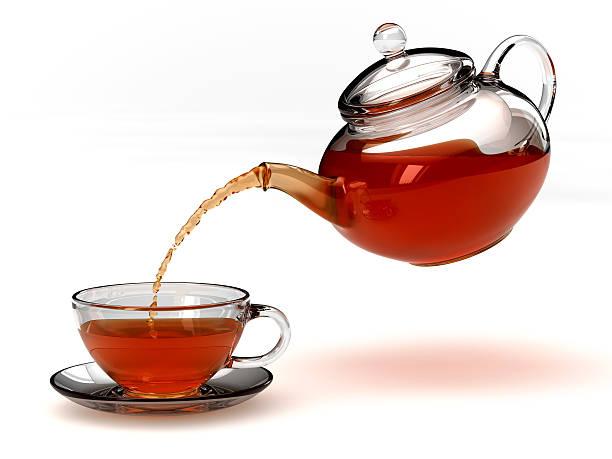 Théière et teacup-Expression anglo-saxonne  - Photo