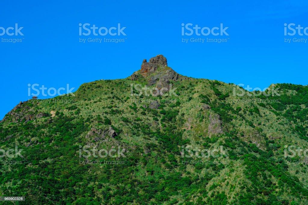 Teapot Mountain in Ruifang District, New Taipei, Taiwan. stock photo