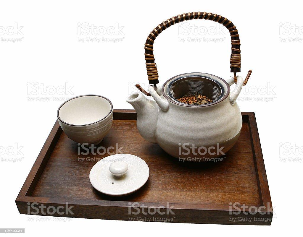 Teapot of Japanese tea royalty-free stock photo