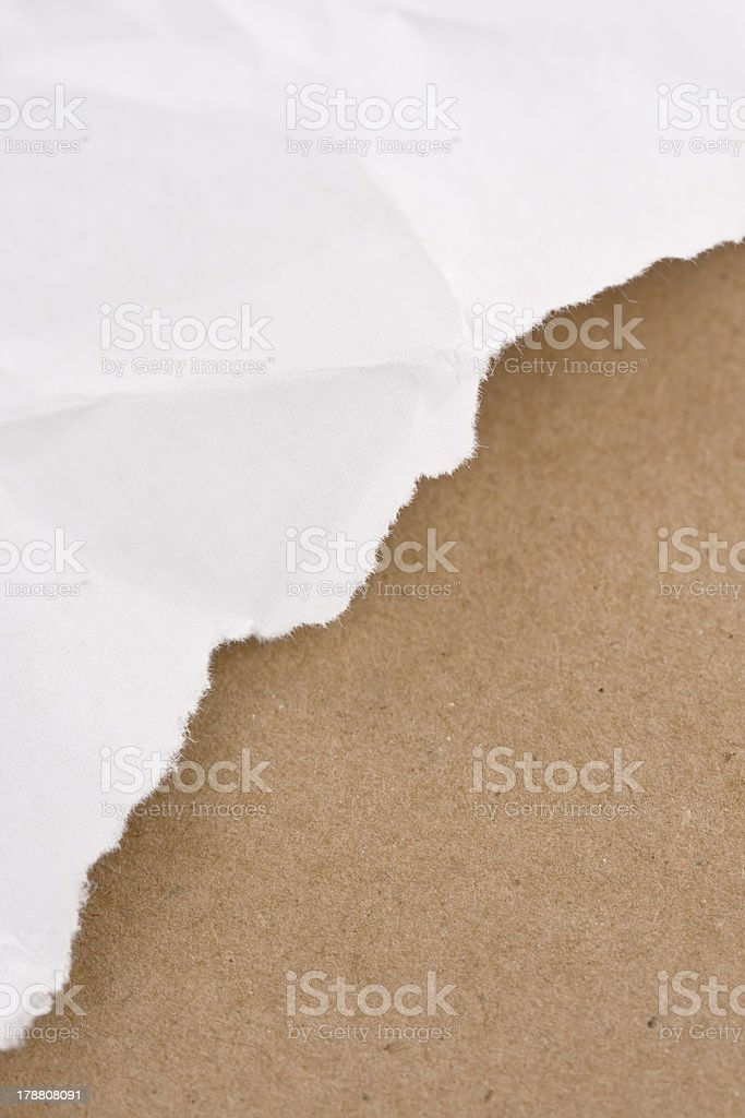 Tear paper royalty-free stock photo