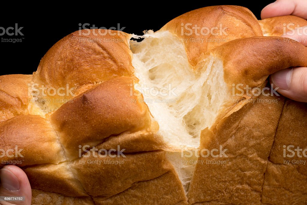 tear up a bread stock photo
