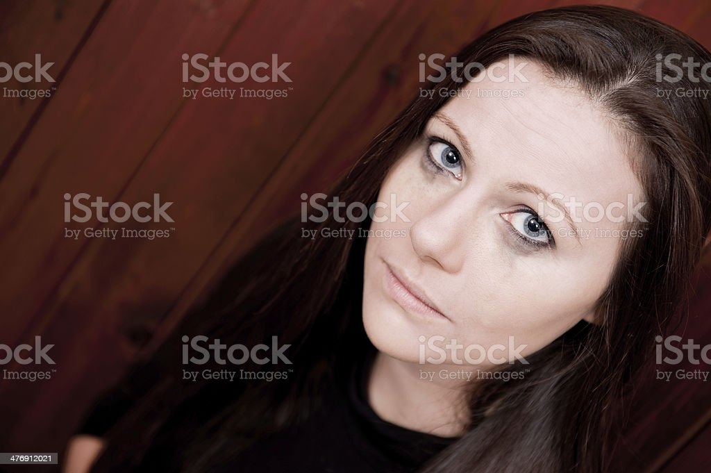 Tearful Young Woman stock photo