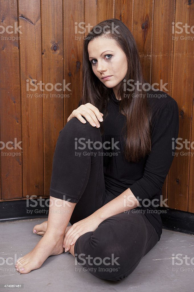 Tearful/Pensive Young Woman stock photo