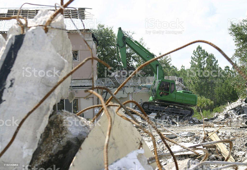 Tearing Down The House royalty-free stock photo