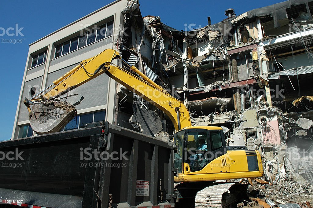 Tearing it Down royalty-free stock photo