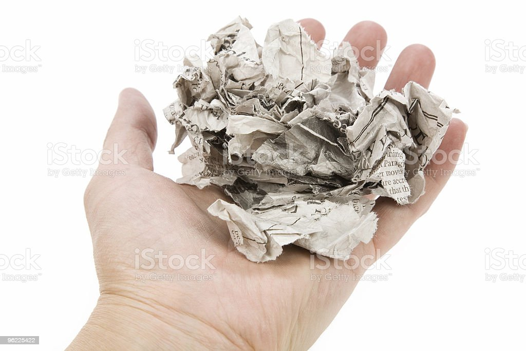 Tearing Newspaper royalty-free stock photo