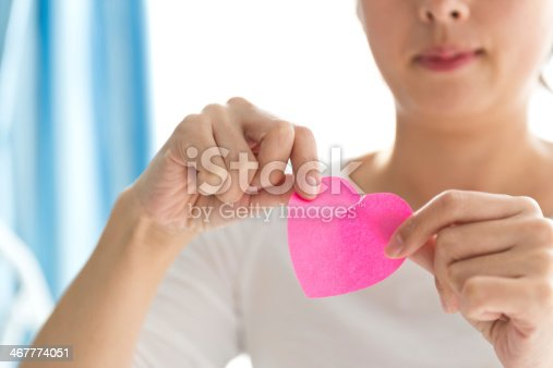 istock tearing up heart shape paper 467774051