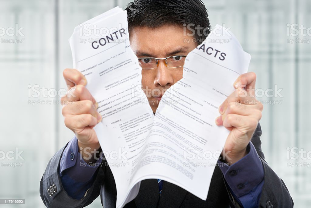 Tearing up the contacts royalty-free stock photo