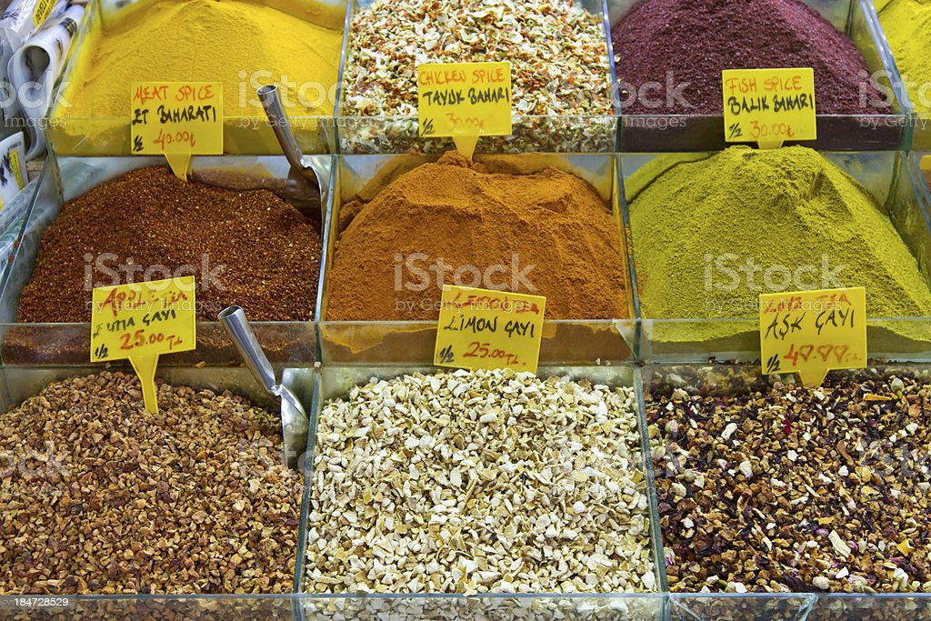 Teas and Spices royalty-free stock photo
