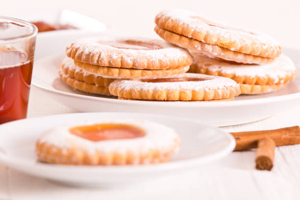 Teatime biscuits stock photo