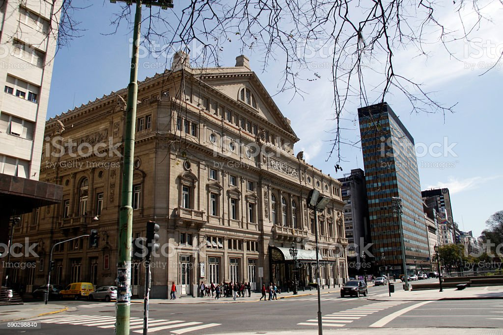 Teatro Colón stock photo