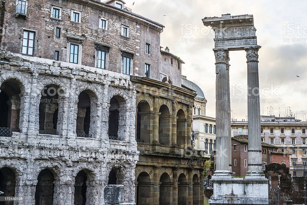 Teatro di Marcello, Rome royalty-free stock photo