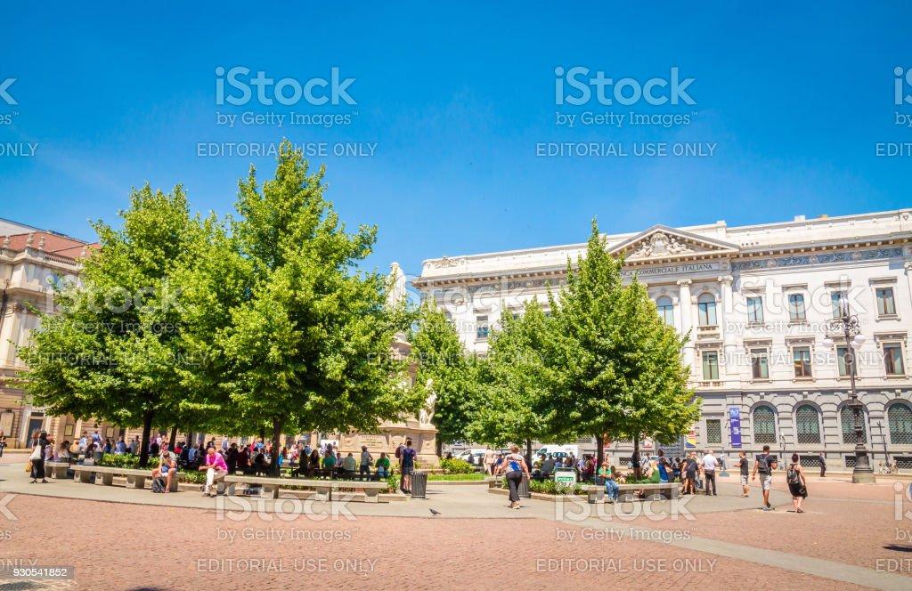 MILAN, ITALY, 19 JUNE 2017: Teatro La Scala-  famous opera house in Milan, Italy. - foto stock