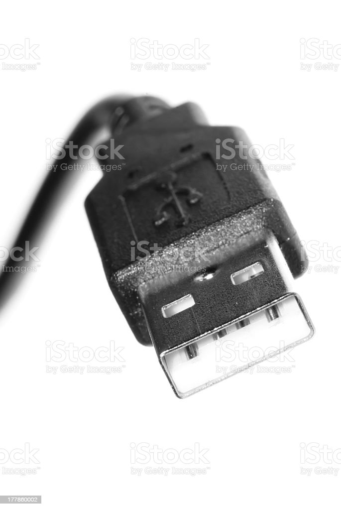USB tech cable with plug royalty-free stock photo