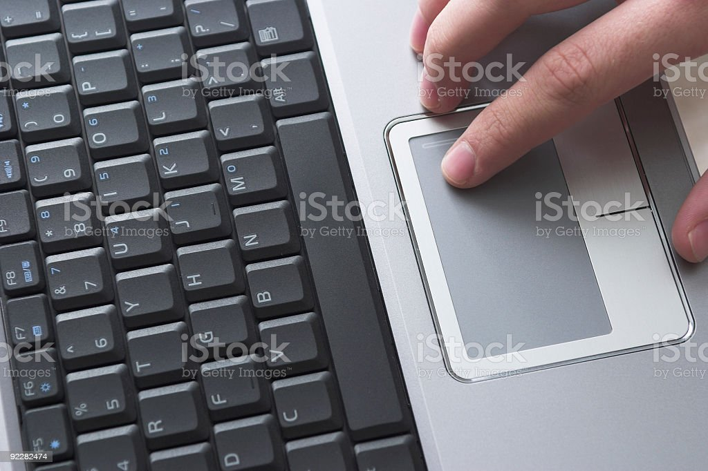 Tech - Laptop User stock photo