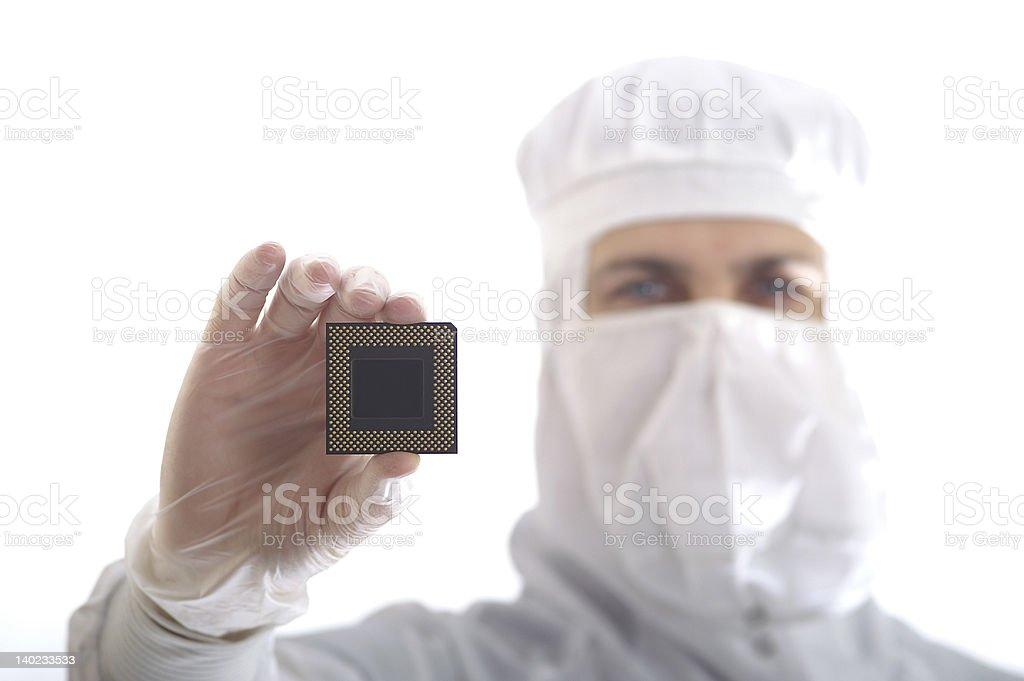 Tech man royalty-free stock photo