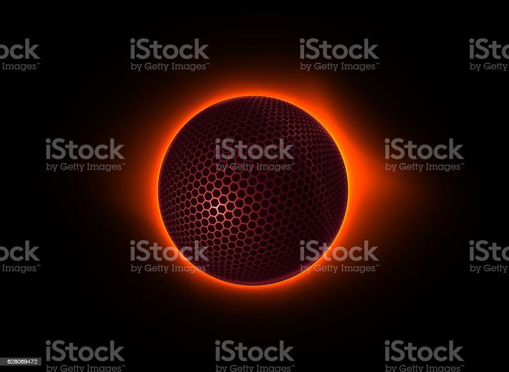tech moon, futuristic design element stock photo