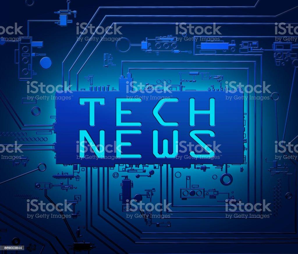 Tech news concept. stock photo