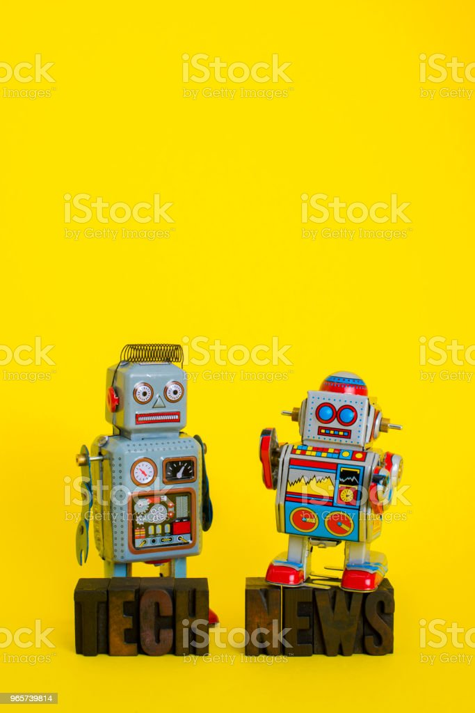 Tech News with Vintage Robots - Royalty-free Alphabet Stock Photo
