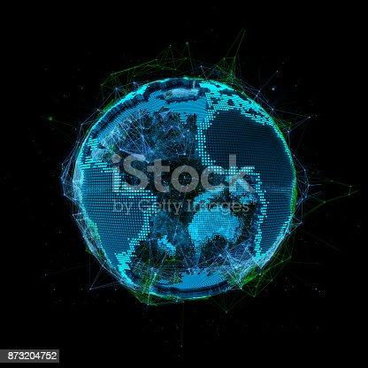 istock Tech planet Earth 3d rendering 3d illustration 873204752