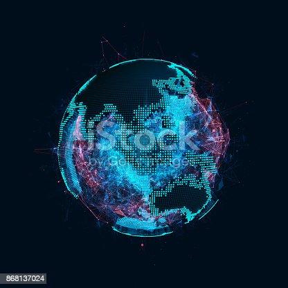 istock Tech planet Earth 868137024