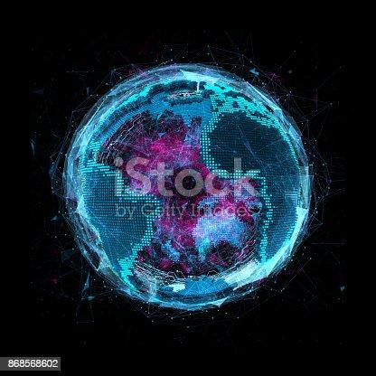 istock Tech planet Earth 868568602
