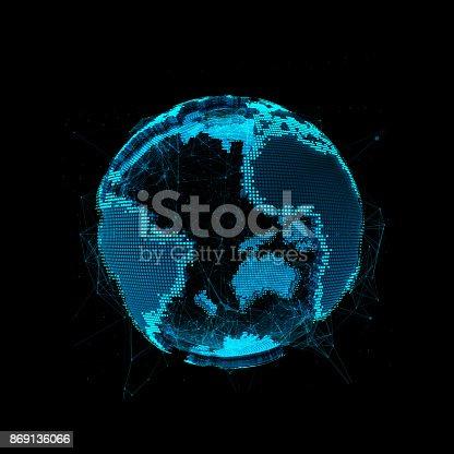istock Tech planet Earth 869136066