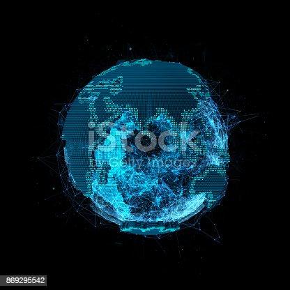 istock Tech planet Earth 869295542